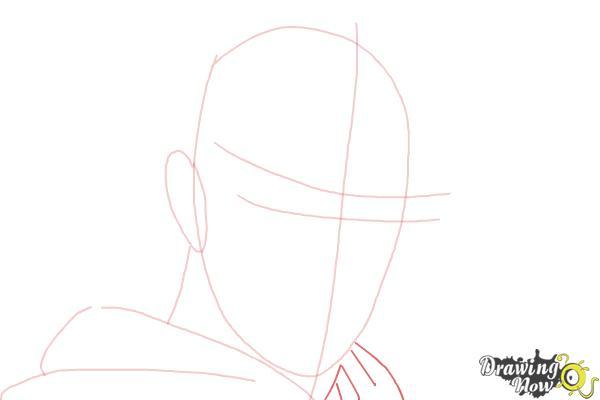 How to Draw Azazel from X-Men: First Class - Step 3