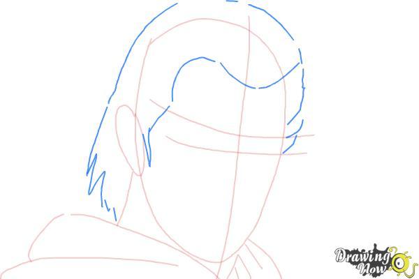 How to Draw Azazel from X-Men: First Class - Step 4