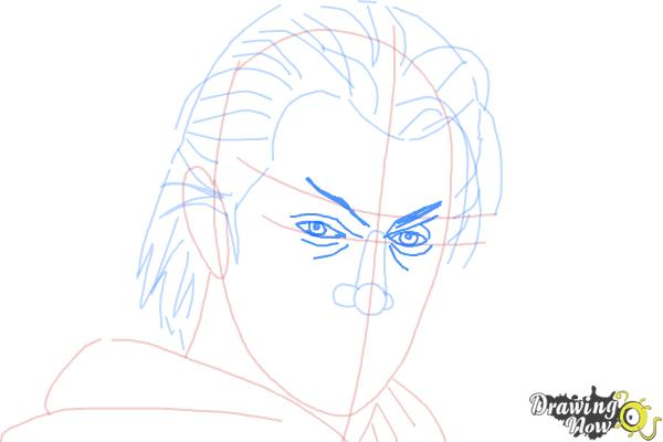 How to Draw Azazel from X-Men: First Class - Step 7