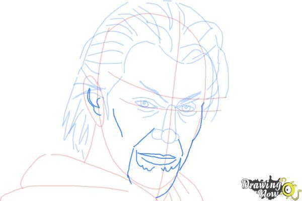 How to Draw Azazel from X-Men: First Class - Step 8