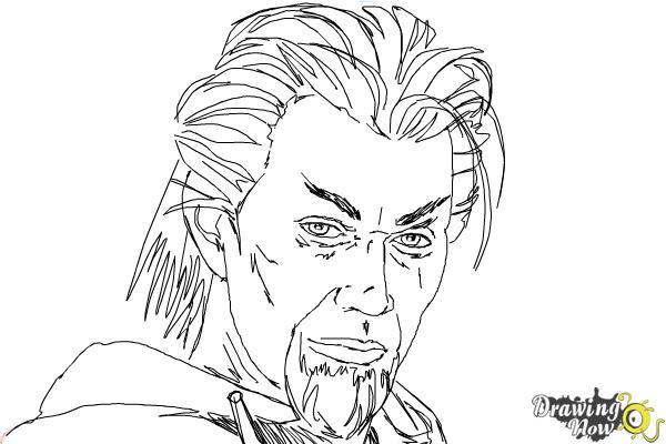 How to Draw Azazel from X-Men: First Class - Step 9