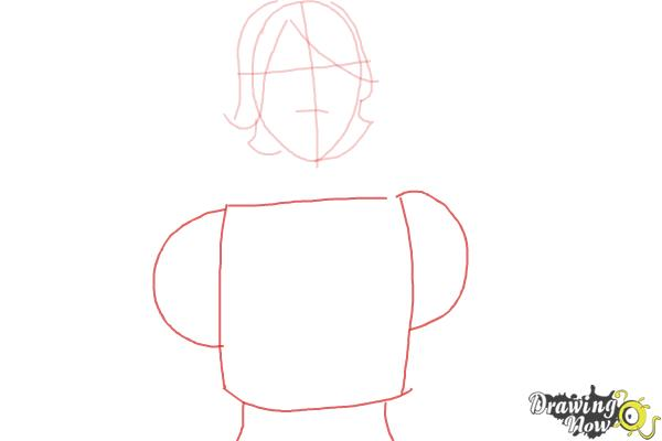 How to Draw Athena from Borderlands The Pre-Sequel - Step 3