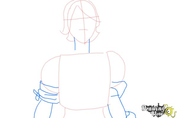 How to Draw Athena from Borderlands The Pre-Sequel - Step 4