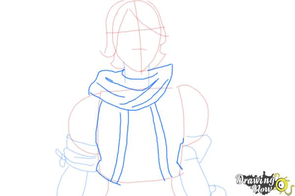 How to Draw Athena from Borderlands The Pre-Sequel - Step 5