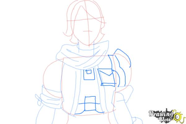 How to Draw Athena from Borderlands The Pre-Sequel - Step 6
