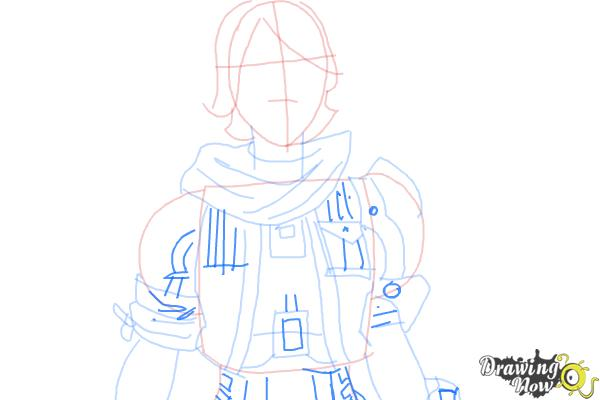 How to Draw Athena from Borderlands The Pre-Sequel - Step 7