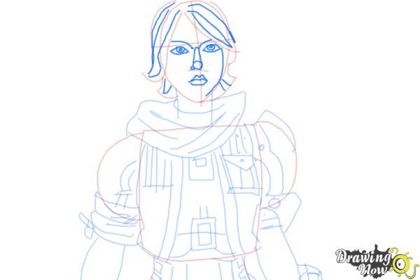 How to Draw Athena from Borderlands The Pre-Sequel - Step 8