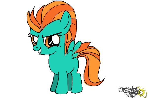 How to Draw Lightning Dust from My Little Pony Friendship Is Magic - Step 12