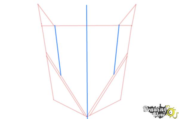 How to Draw Decepticon Logo from Transformers - Step 3