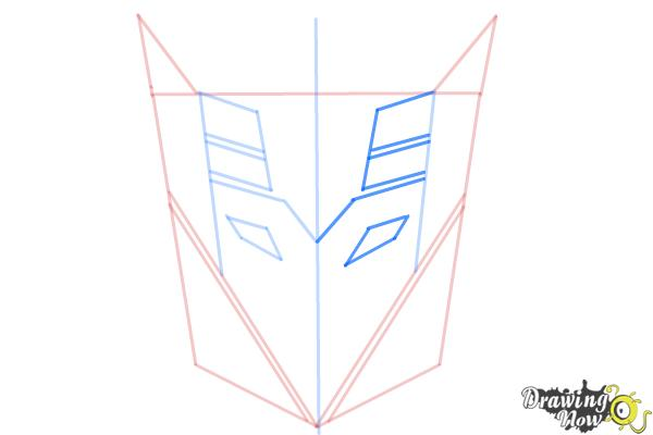 How to Draw Decepticon Logo from Transformers - Step 6