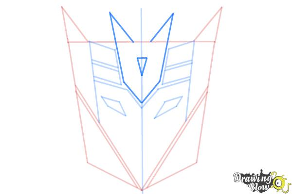 How to Draw Decepticon Logo from Transformers - Step 7