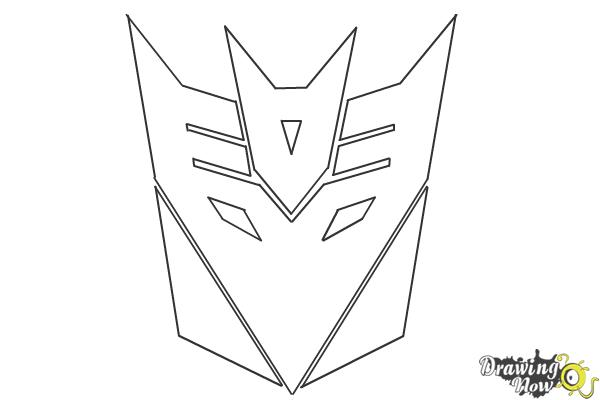 How to Draw Decepticon Logo from Transformers - Step 8