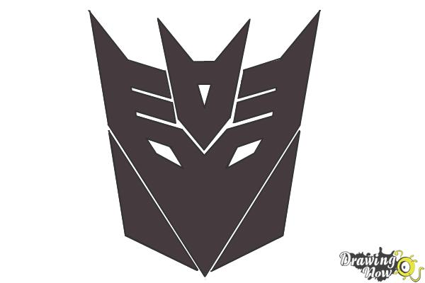 How to Draw Decepticon Logo from Transformers - Step 9