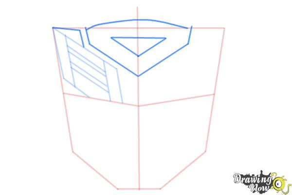 How to Draw Autobot Logo from Transformers - Step 5