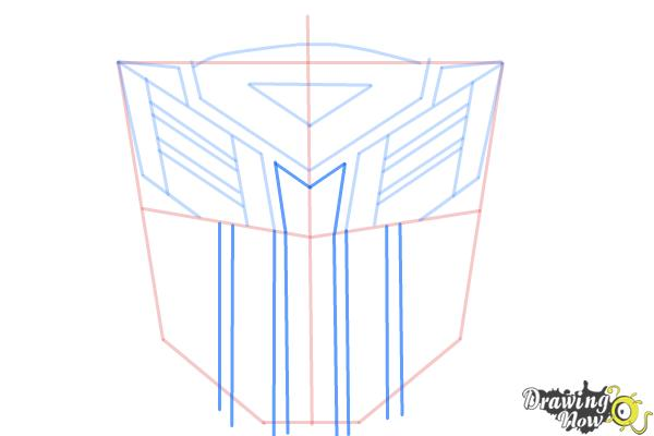 How to Draw Autobot Logo from Transformers - Step 7