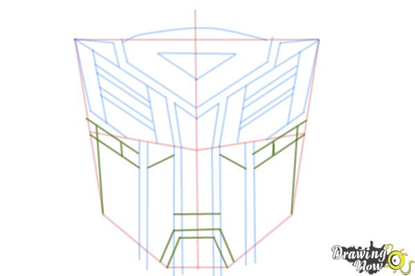 How to Draw Autobot Logo from Transformers - Step 8