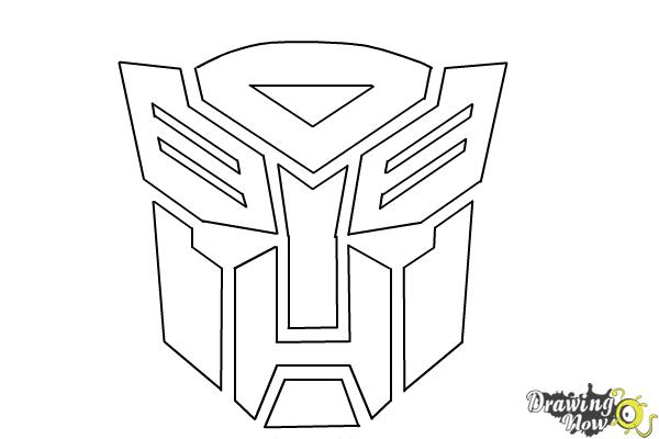 How to Draw Autobot Logo from Transformers - Step 9