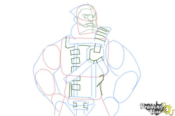 How to Draw Wilhelm from Borderlands The Pre-Sequel - Step 10