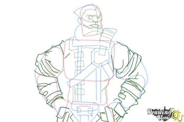 How to Draw Wilhelm from Borderlands The Pre-Sequel - Step 11