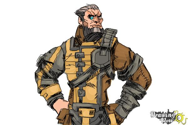 How to Draw Wilhelm from Borderlands The Pre-Sequel - Step 13