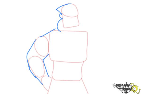 How to Draw Wilhelm from Borderlands The Pre-Sequel - Step 4