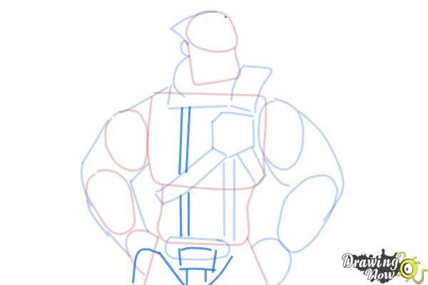 How to Draw Wilhelm from Borderlands The Pre-Sequel - Step 7