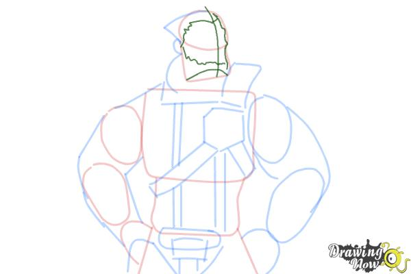 How to Draw Wilhelm from Borderlands The Pre-Sequel - Step 8