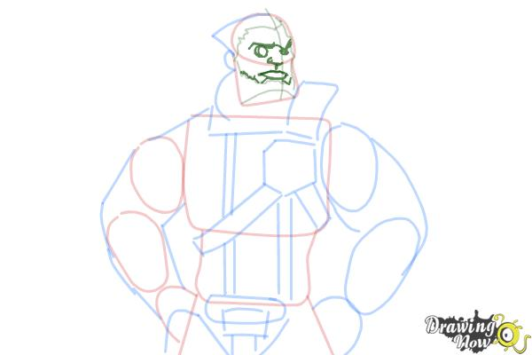 How to Draw Wilhelm from Borderlands The Pre-Sequel - Step 9