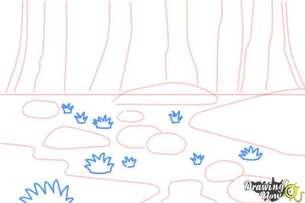 How to Draw a Swamp - Step 5