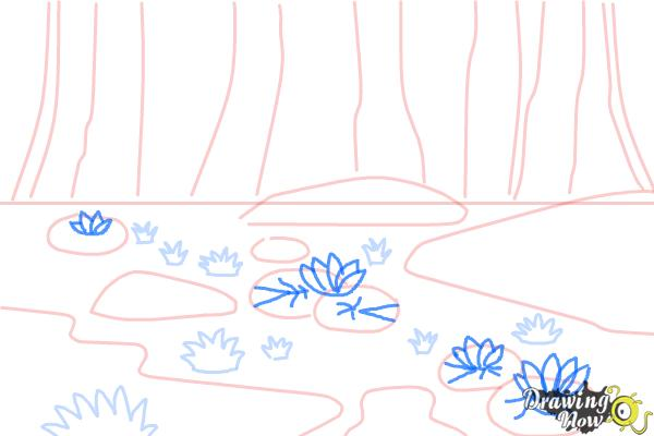 How to Draw a Swamp - Step 6
