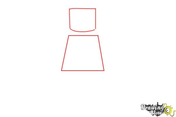 How to Draw a 3D Lego Minifigure - Step 1