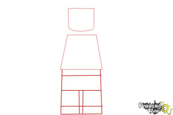 How to Draw a 3D Lego Minifigure - Step 2