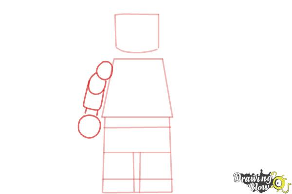 How to Draw a 3D Lego Minifigure - Step 3
