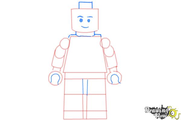 How to Draw a 3D Lego Minifigure - Step 5