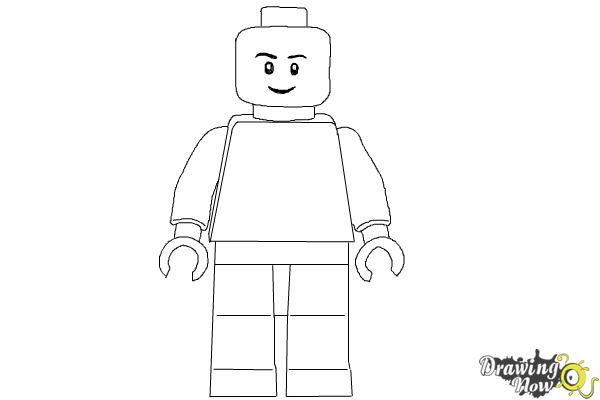 how to draw a 3d lego minifigure