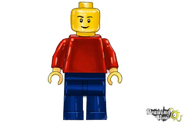 How to Draw a 3D Lego Minifigure - Step 7