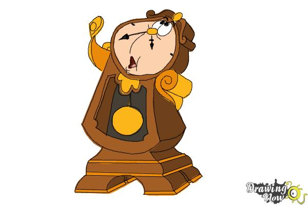 How to Draw Cogsworth from Beauty And The Beast - Step 10