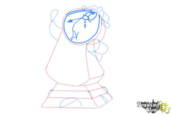 How to Draw Cogsworth from Beauty And The Beast - Step 7