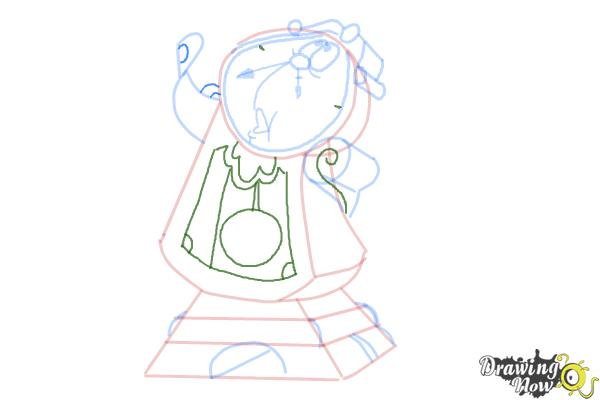 How to Draw Cogsworth from Beauty And The Beast - Step 8