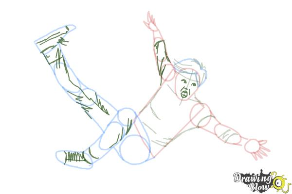 How To Draw A Person Falling Drawingnow