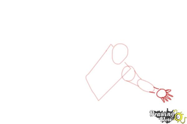 How to Draw a Person Falling - Step 3