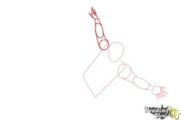 How to Draw a Person Falling - Step 4
