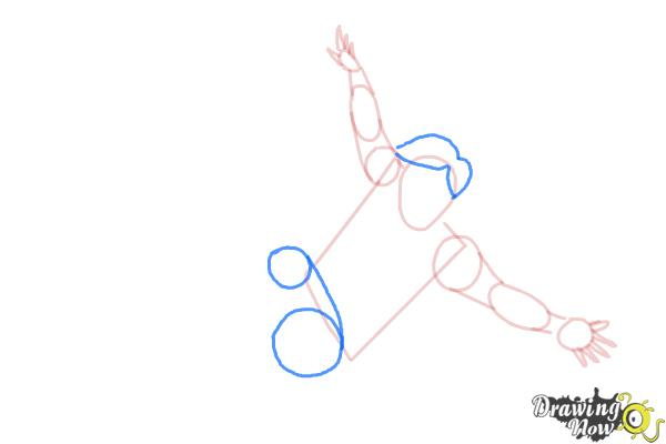 How to Draw a Person Falling - Step 5