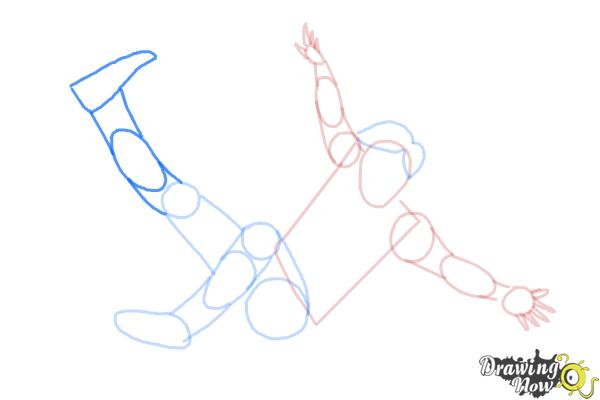 How to Draw a Person Falling - Step 8