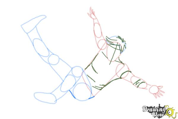 How to Draw a Person Falling - Step 9