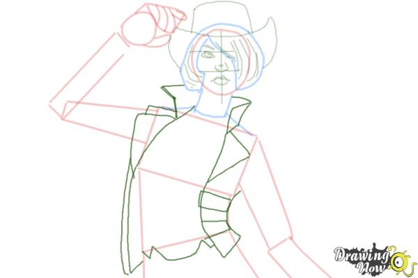 How to Draw Nisha from Borderlands The Pre-Sequel - Step 7