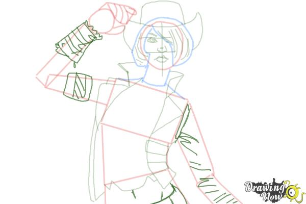 How to Draw Nisha from Borderlands The Pre-Sequel - Step 8