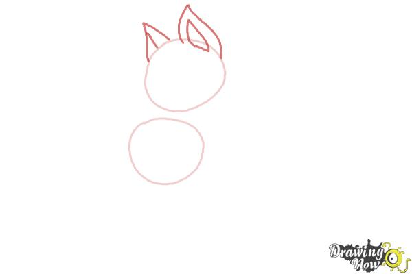 How to Draw a German Shepherd Puppy - Step 2