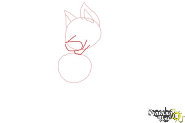 How to Draw a German Shepherd Puppy - Step 3