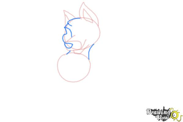 How to Draw a German Shepherd Puppy - Step 4
